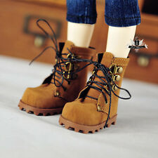 1/4 BJD Shoes MSD Dollfie DREAM PUNK Brown Nubuck leather Boots AOD DOD SOOM MID