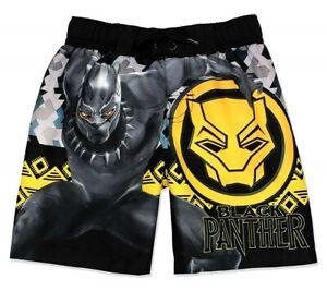 37c8650957 BLACK PANTHER AVENGERS UPF50+ Bathing Suit Swim Trunks Boys Size 4 5 ...