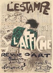Original-Vintage-Poster-Pierre-Bonnard-L-039-Estampe-et-l-039-Affiche-1897