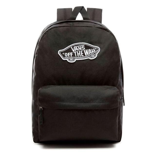 98ca7ec04f3f VANS Realm Black Backpack Vn0a3ui6blk1 for sale online
