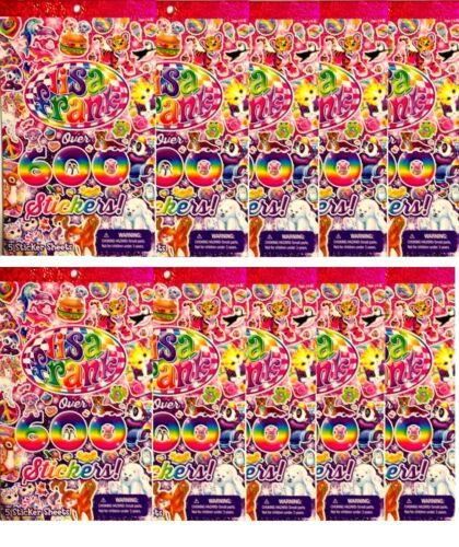 10  Lisa Frank over 600 Stickers Sticker Book Lot of 10        FREE SHIPPING