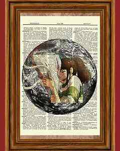 Spirited Away Anime Dictionary Art Print Poster Picture Movie Chihiro Haku