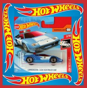 Hot-Wheels-2019-Lamborghini-Countach-Police-Car-142-250-neu-amp-ovp