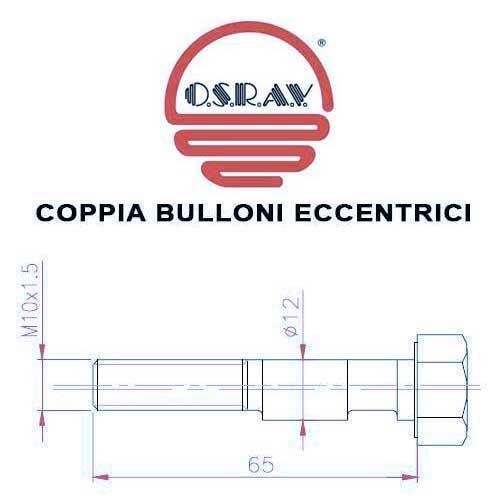 X36 COPPIA BULLONI ECCENTRICI AMMORTIZZATORI FIAT CINQUECENTO 92-/> CAMPANATURA