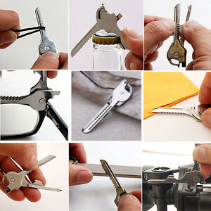 Hot Keychain Keyring Multi Tool Stainless EDC Screwdriver Opener 6 in1 Utili-Key