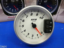 """Marshall 3292 5"""" Tachometer 10,000 RPM Memory Tach with Recal Pedestal Mount"""
