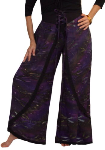 LotusTraders BOHO WRAP BATIK ART PALAZZO PANT MADE TO ORDER PLUS FASHION N543