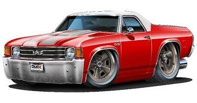 1984-88 Olds 442 Hurst Olds Cartoon Car Wall Poster Decal Sticker Graphic Cling