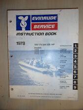 1978 EVINRUDE MARINE OUTBOARD ENGINE SERVICE MANUAL 150HP 175HP 200HP & 235HP