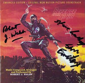REVENGE-OF-THE-NINJA-CD-Soundtrack-SIGNED-BY-ROBERT-WALSH-2-MORE-Varese-NEW
