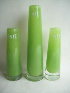 1 Dutz Vase Glas Lime Solifleur Rund Schwer Glasvase 15 21 Cm