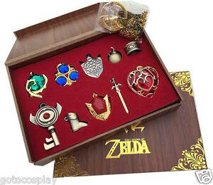 The-Legend-of-Zelda-Link-Hylian-Sword-Keychain-Necklace-10pcs-Collection-Set