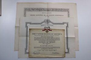 3 Sympathiques Diplomes d'un ancien INTENDANT MILITAIRE des Troupes Colo / FFL