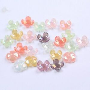 100pcs-Acrylic-Four-Petal-Flower-beads-Hair-Ornament-Material-Accessories