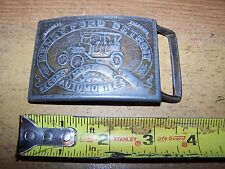 OLD FORD CAR METAL BELT BUCKLE