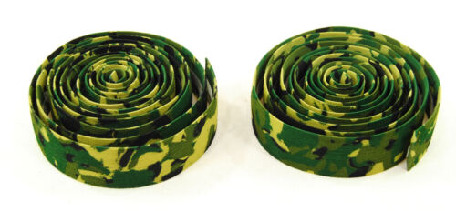 Soma Thick /& Zesty Striated Road Bicycle Handlebar Drop Bar Tape Green Camo