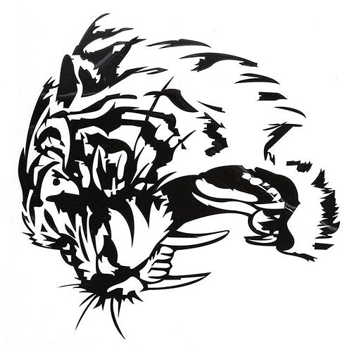 UK/_ EG/_ TIGER HEAD DESIGN TRIBAL GRAPHIC DECAL DECO STICKER FOR HOME WINDOW CAR