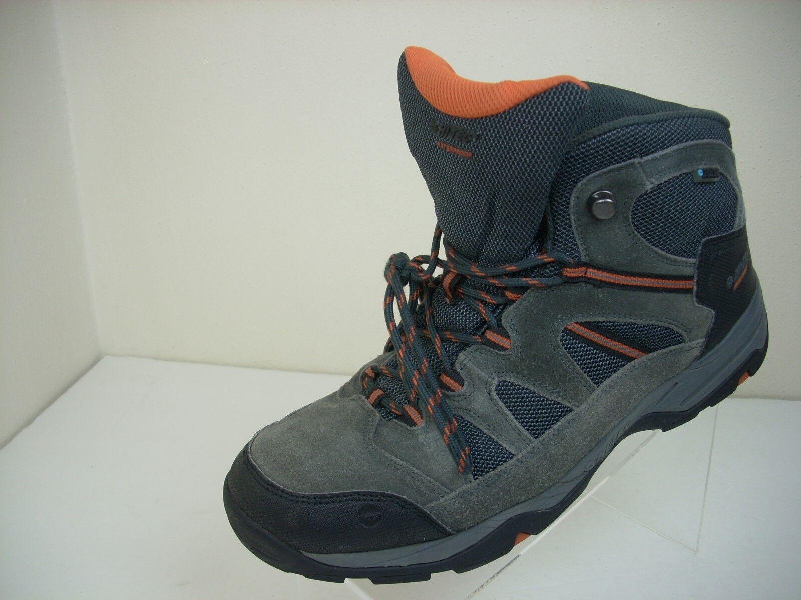 HI-TEC Bandera  Boots 10.5 Gray Waterproof Outdoor Hiking Trail Work Men Suede