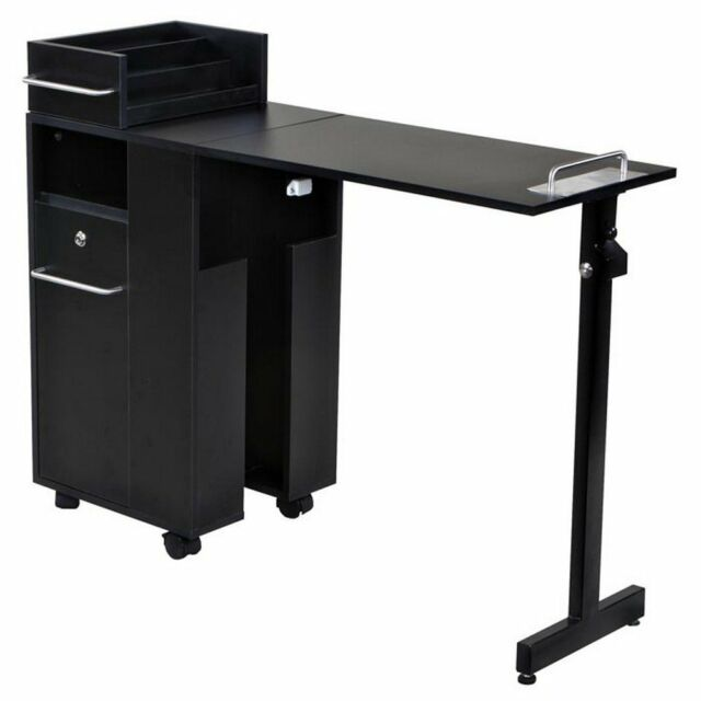 Manicure Table For Sale >> Icarus Exceptional Black Manicure Nail Table Station