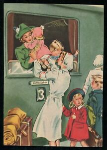 WW2-WWII-Germany-3rd-Reich-Postcard-German-Cover-Hitler-Women-War-Aid-1940-Mint