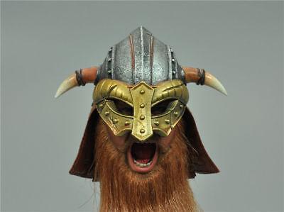 """Bull Helmet for COOMODEL SE017 VIKING VANQUISHER — BERSERKER 1//6 12/"""" Action"""