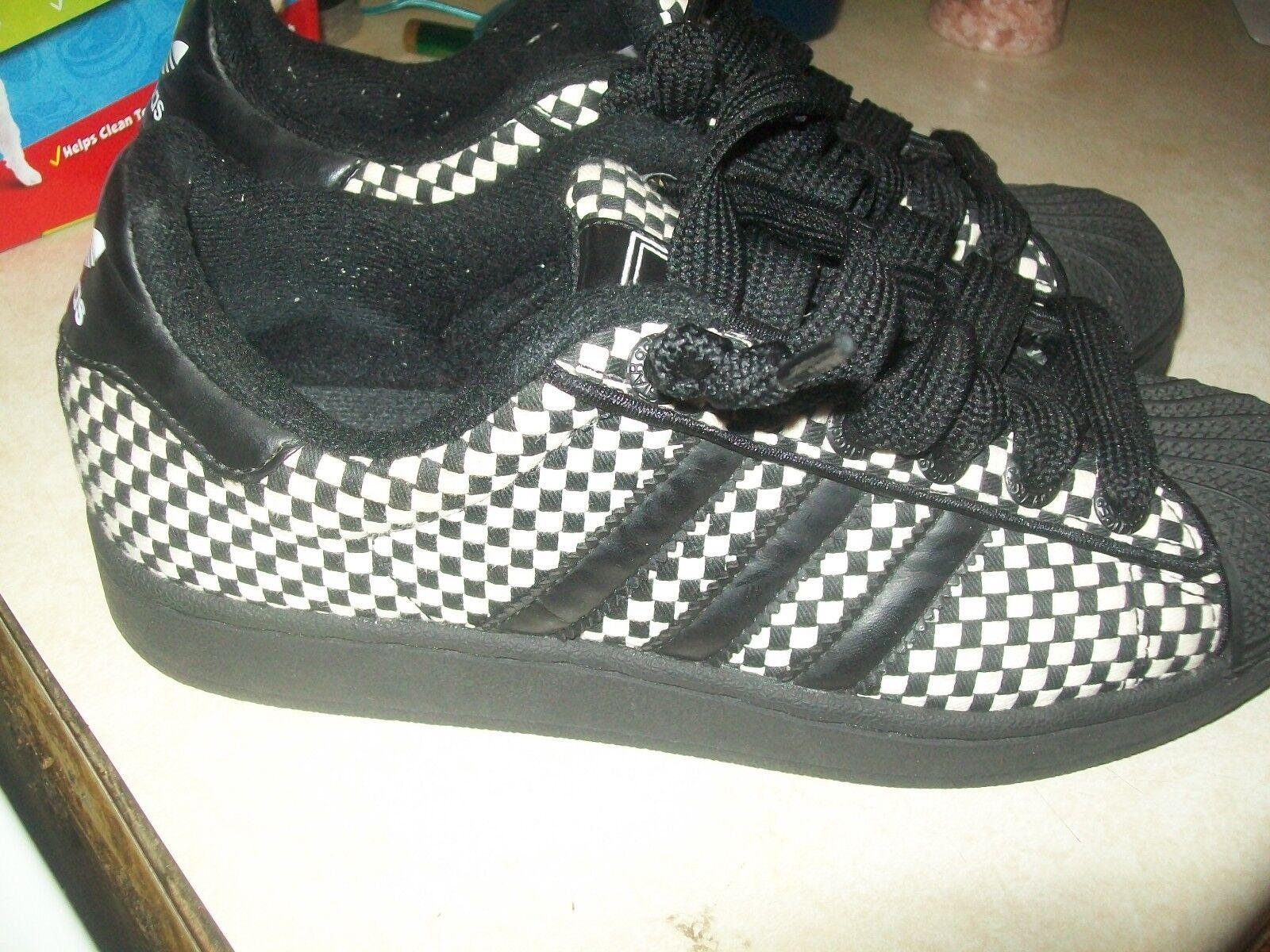 Adidas superstar sehr selten bewegte schwarz / weißen sz männer 6,5 l @ @ k jetzt