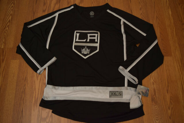 3347d456b NWT Official Licensed NHL Los Angeles Kings Hockey Black Jersey Shirt XL
