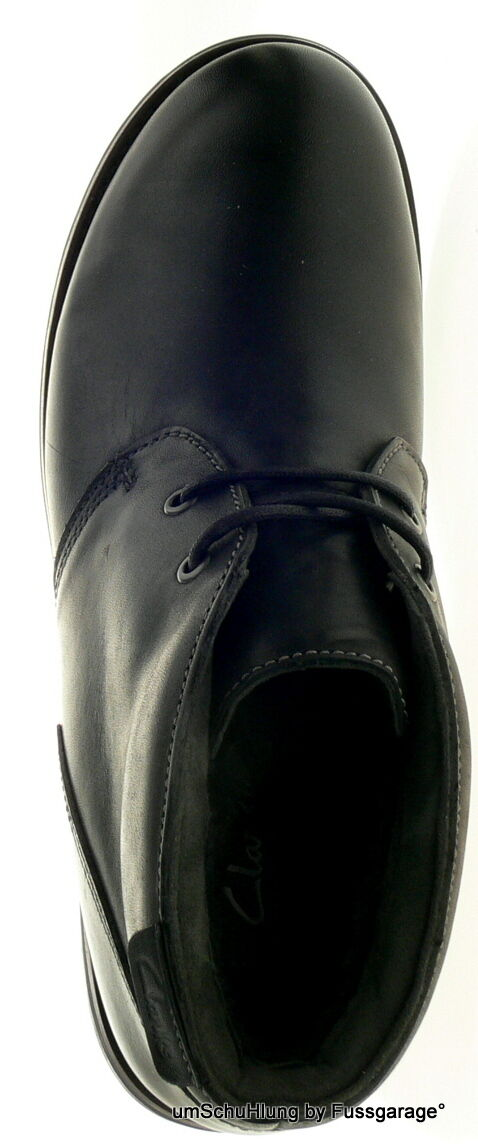 Clarks Originals Herrenschuhe MIDFORD EDGE schwarz Echtleder Boots gefüttert gefüttert gefüttert NEU 92ab0b