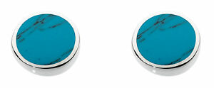 Dew-925-Sterling-Silver-7mm-Round-Stud-Earrings-inlaid-with-Turquoise-Boxed
