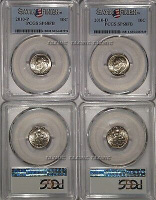 2010 P/&D Roosevelt Dimes From SATIN Mint Set
