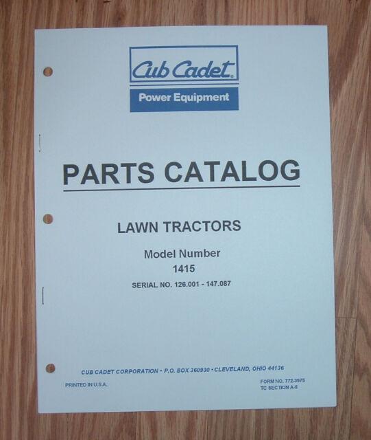 Cub Cadet 1415 Manual. Cub Cadet 1415 Tractor Engine Illustrated Parts List Catalog Rh Ebay Manual 1420 Service. Wiring. Cub Cadet Mower Model 1415 Wiring Diagram At Scoala.co