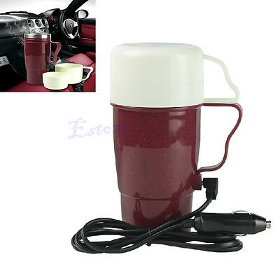 Portable Car 12V Stainless Steel Kettle Boil Cup Warm Hot Water 100° Heater Mug