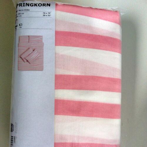 IKEA white striped duvet pillowcase bedding set fresh clean Euro size