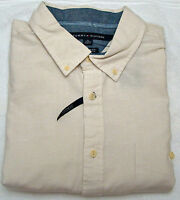 Tommy Hilfiger White Ivory Button Down Custom Fit Shirt - Size Xl