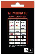 HD+ Plus Verlängerung für 12 Monate für alle HD+ Karten HD01/02/03/04 geeignet