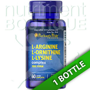 Details about L-Arginine L-Ornithine L-Lysine Tri Amino Acids 60 Caps by  Puritan's Pride