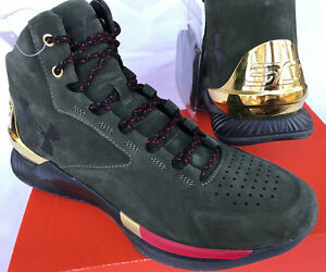 c775d2c06d60 Under Armour UA Curry 1 Lux Mid Suede 1296617-330 Basketball Shoes ...