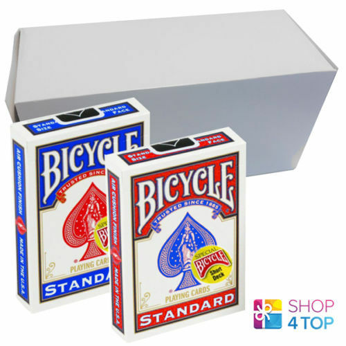 12 DECKS BICYCLE MAGIC SHORT 1 16  SPIELKARTEN 6 BLAU 6 ROT STANDARD INDEX NEU