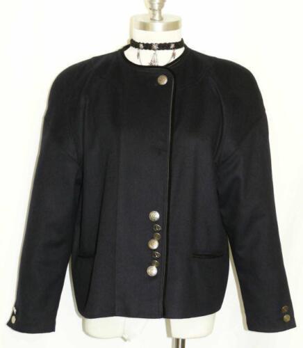 L donna Blu Classica 14 soprabito scuro 44 giacca sopra abito di Gilet ~ 741587278009 tedesca lana xwA6qwYnr