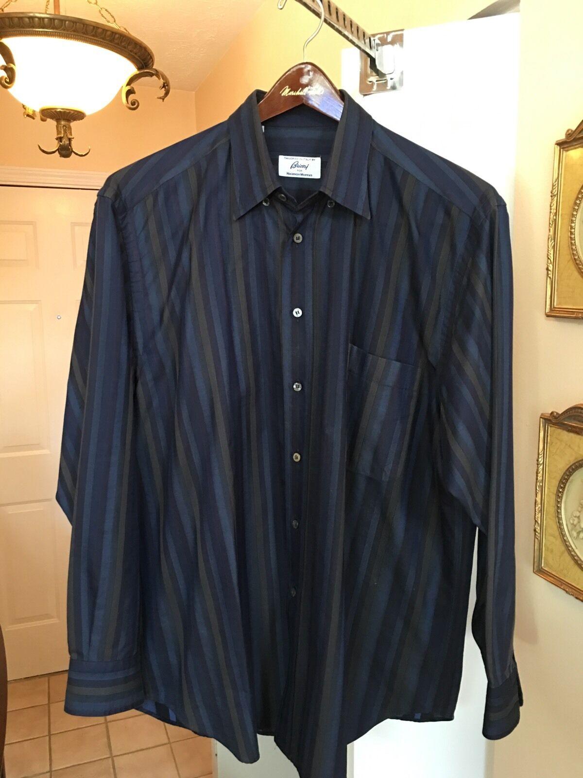 Herren Brioni For Neiman Marcus Dress Shirt Größe XL retail for 795