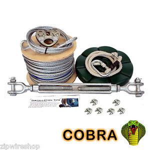 Ensemble bouton-poussoir / ligne de jardin Cobra, kit de cordage / cordon, corde de 8 mm