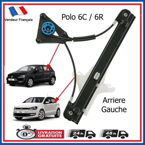 Mécanisme de Leve Vitre Arriere Gauche pour VW Polo 5 portes = 6R4839461