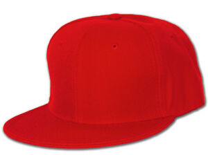 Blank-Flat-Bill-Baseball-Hat-More-Colors-Available-7-Red