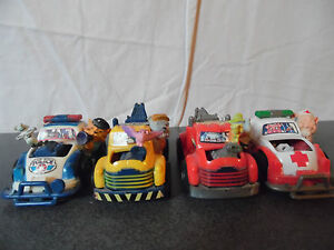 Rare-lot-de-4-voitures-a-friction-New-ray-1993