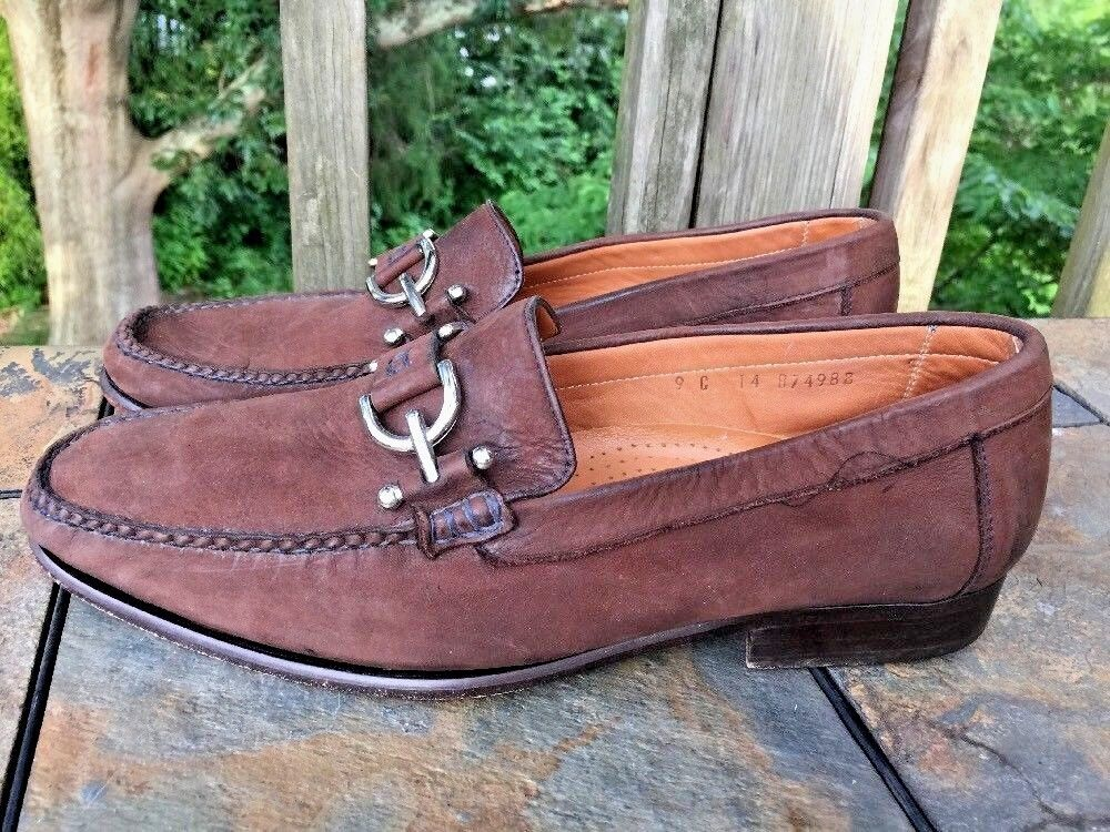 ALAN PAYNE Horse Bridle Polo Rugby DARIO Leather Loafers shoes Mens Size 9 b2