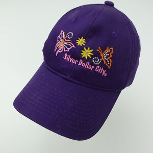 Silver Dollar City Butterflies Purple Girls Ball Cap Hat Adjustable Baseball