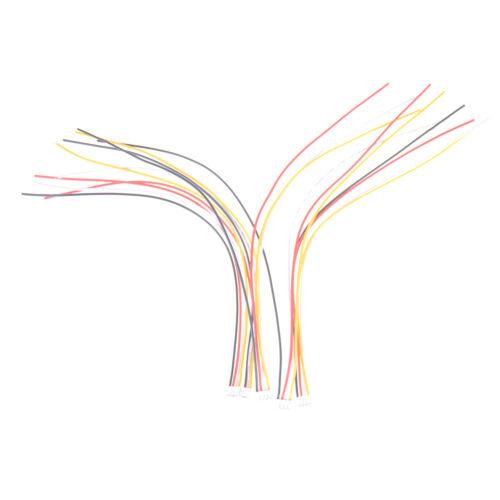 5Pcs Mini Micro JST 2.0mm PH 4-Pin Stecker Stecker Drähte Kabel 200mm I2  .xm