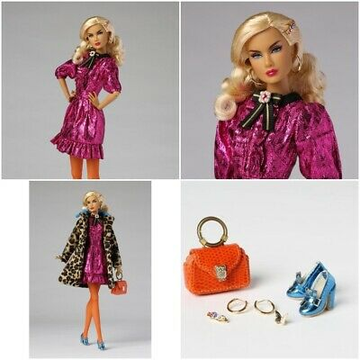 INTEGRITY TOYS ALYSA COLOR CLASH THE INDUSTRY  FAUX FUR COAT NEW