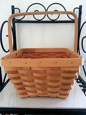 PERFECT Small Square Tapered Basket with Handle Footed