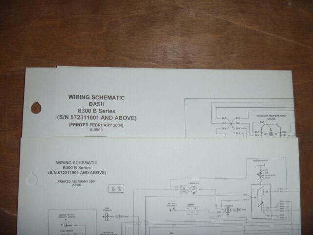 Bobcat B300 Backhoe Loader Electrical Wiring Diagram